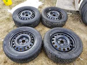 Winter Set of 235/55R17 mounted on 114.5 Rims