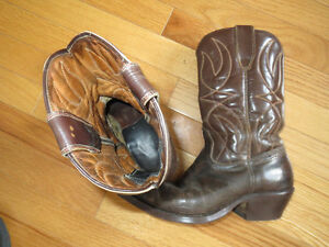Leather Cowboy Boots - size 7.5-8