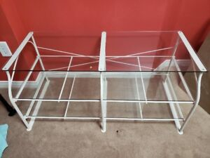 Ikea Lindved media TV table shelf unit