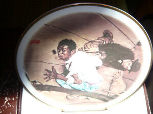 """Norman Rockwell Fine China LTD Collectors Plate """"LISTENING"""""""