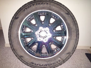 """New 17"""" rim with tire"""