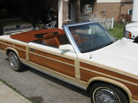 1983 Chrysler Lebaron Town & Country Conv,low miles, woody,rare