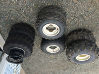 ATV Raptor rims and tires