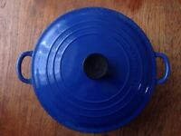 LE CREUSET Cast Iron Casserole. HUGE! REDUCED!