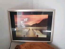 Mel Allen Large picture in brushed silver frame VGC