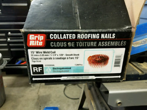 Coil roofing/shingle nails for sale.
