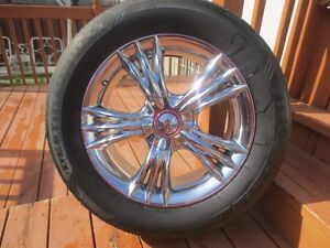 4X SUPER CHROME  MAGS +TIRES  245.60.18