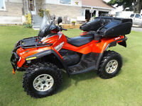 2007 CAN AM OUTLANDER MAX XT 650 CC EFI AUTOMATIC WITH FULL LOAD