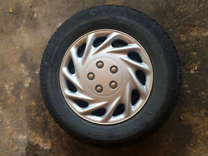 Winter tires on rims to fit Honda Civic