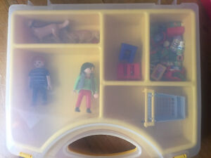 2 x Playmobil sets with carry cases