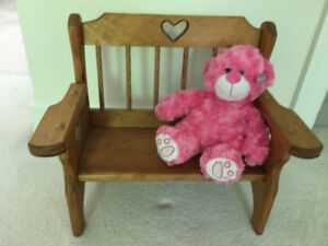wooden Bench suitable for dolls and stuffed animals