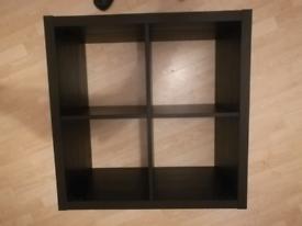 Bookcase Shelving unit Ikea KALLAX, Black, 77x77cm (Perfect condition)