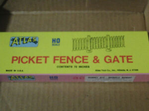 HO scale Picket Fence & Gate - New for electric model trains