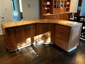 High end granite Kitchen Island