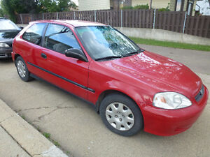 1999 Honda Civic DX Hatchback ,Basic,CD, 5spd std,178462km