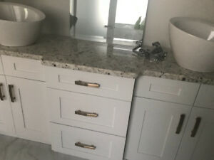 Granite counter tops , sinks and taps