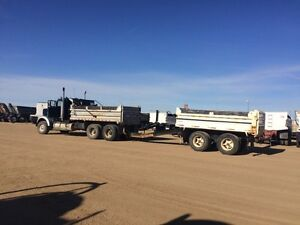 Tandem gravel truck and pup for hire