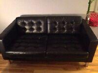 Genuine black leather loceseat