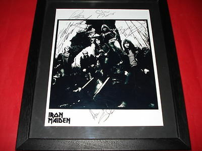 IRON MAIDEN SIGNED FRAMED&MOUNTED 10x8 PP PHOTO harris