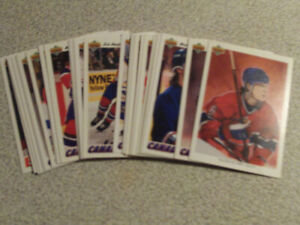 CARTES DE HOCKEY DES CANADIENS DE MONTRÉAL 1991-92