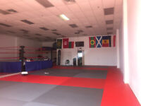 Matted Space available for rent.  Perfect for personal training.