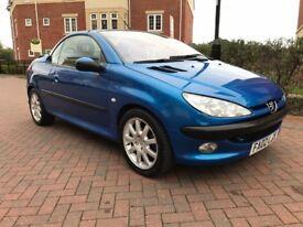 Peugeot 206 2.0 SE COUPE CABRIOLET (blue) 2002