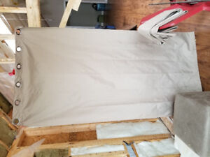 Panel Curtains with Curtain Rods - 6 Panels $80 obo