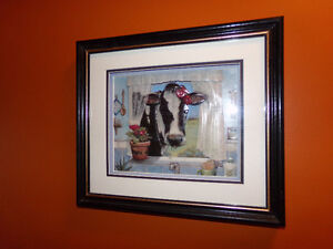 Beautiful Paper Tole 3D Decoupage 'Cow in the Window'