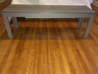 Banc gris/ Gray bench. In perfect condition!
