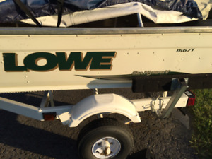 16ft Lowe Boat and 25HP Mercury c/w trailer