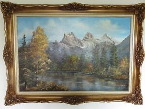 Rockies  Scenery  Painting