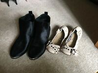 Chelsea Boots and Ballet Pumps