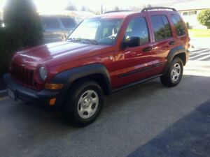 Red 2006 Jeep Liberty SUV for sale