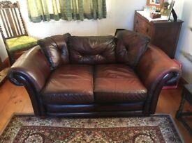 Saxon leather Harlow two seater sofa