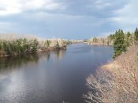 SHEDIAC:  LAND FOR SALE / 2 MINUTE WALK FROM SCOUDOUC RIVER