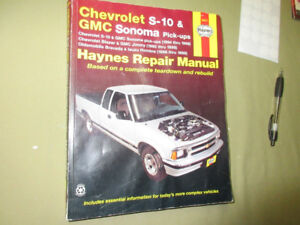 1994-98 CHEV S-10/BLAZE & GMC SONOMA/JIMMY/OLDS REPAIR MANUAL