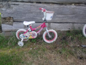 12 inch disney princess bike, great condition, with tr. wheels