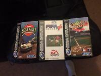 3 X sega Saturn games for sale eg sega rally etc