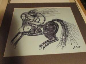 """""""Centaur"""" by Almere Lutkenhaus - Hand Drawn Art"""