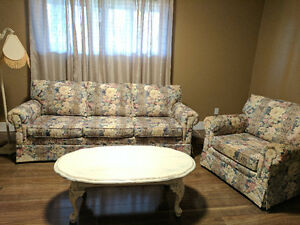 Beautiful couch and matching chair set