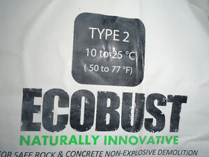 Ecoblast Drill and Fill to Shatter Rock Concrete Alternative to