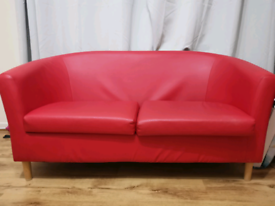 Red sofa leather good condition