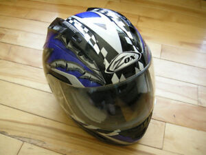 ZOX DION DESIGN motorcycle helmet FOR SALE size LARGE