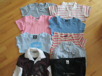 LOT DE 32 T-SHIRTS, CHANDAILS grandeur 14/16 enfant ou small ad