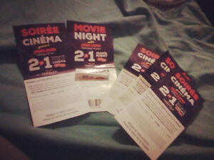 Cineplex Movie Tickets 2 for 1 with PizzaPizza