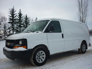 2009 Chevrolet Express Cargo Van w/PARITION,SHELVING,INSULATED
