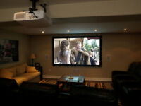 TV Wall Mounting, Home Theaters, Projectors and Screens!