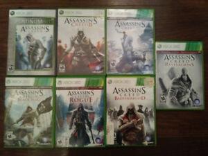 Assassins Creed video game bundle .x box 360