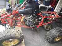 Parting out a yamaha warrior .