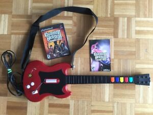 Guitare avec fil rouge / Red Guitar with wire - 40$